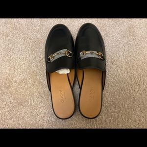 GucciPrincetown horsebit-detailed leather slippers